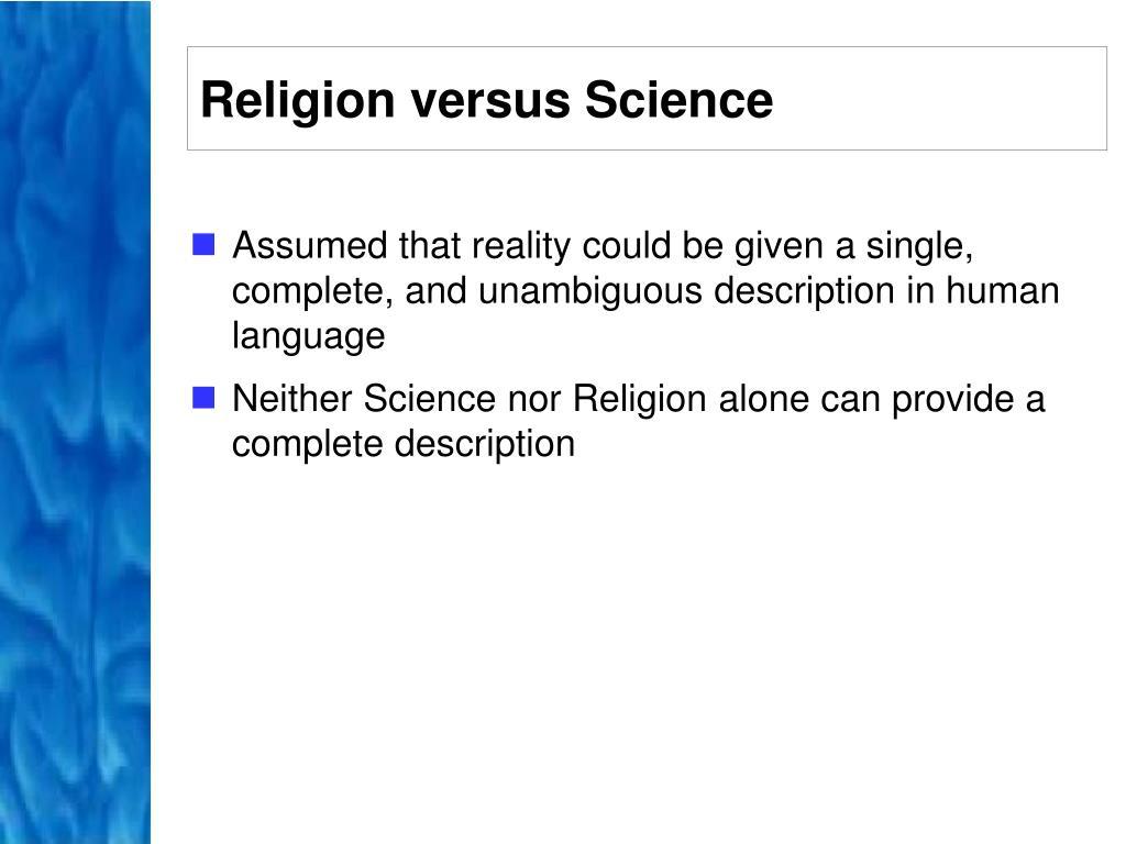 Religion versus Science