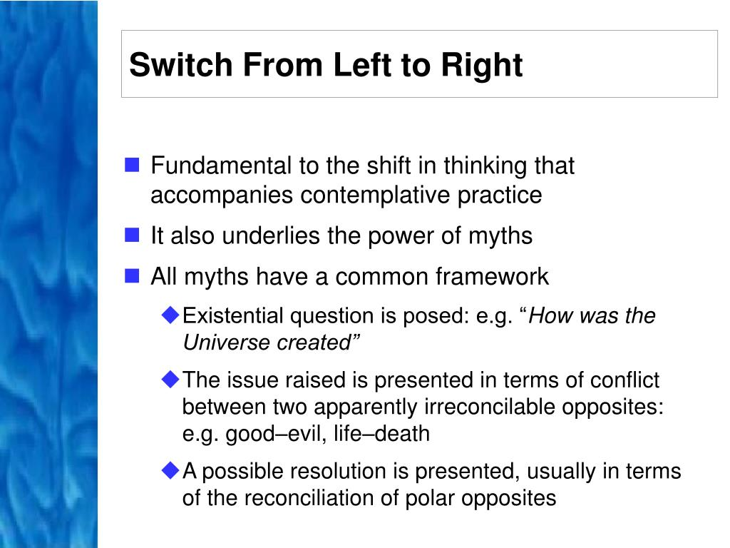 Switch From Left to Right