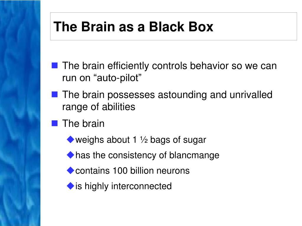 The Brain as a Black Box