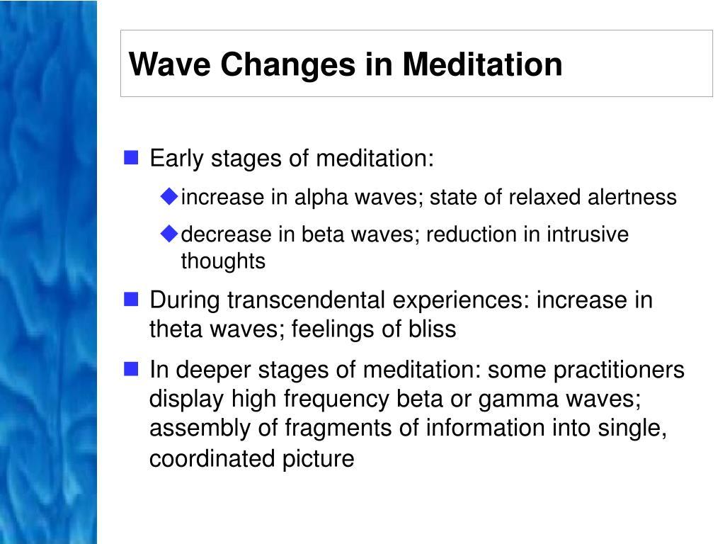 Wave Changes in Meditation