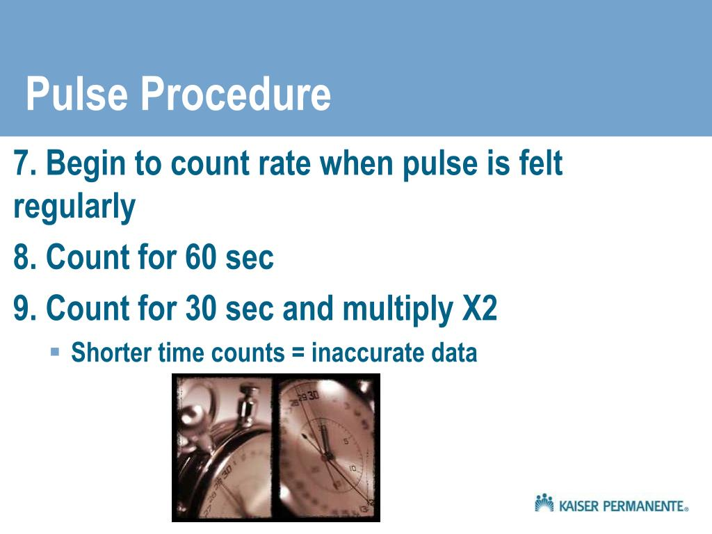 Pulse Procedure