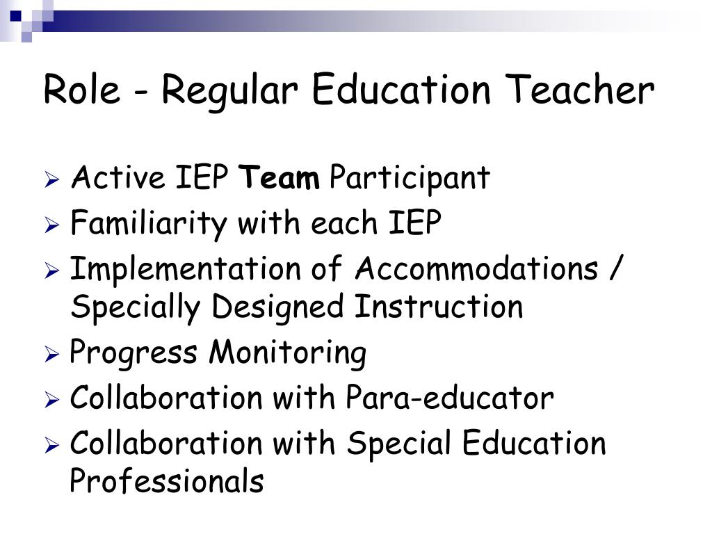 Collaborative Teaching For Teacher Educators : Ppt meeting the needs of special education students