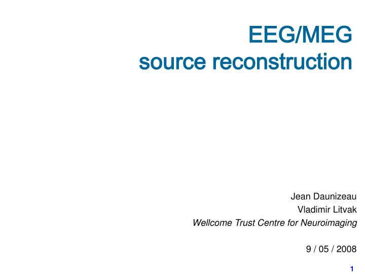 Eeg meg source reconstruction