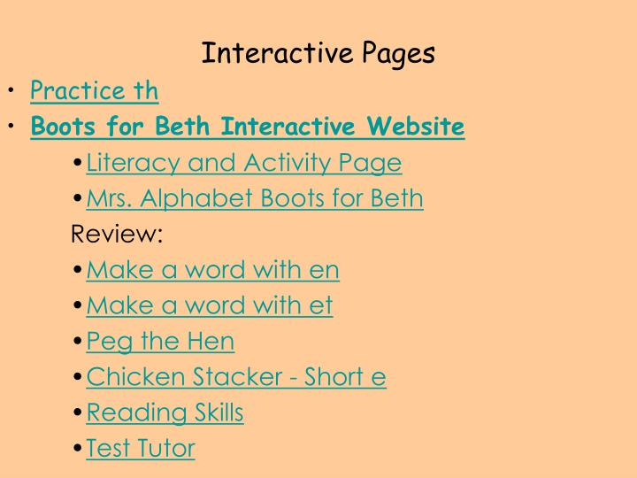 Interactive Pages