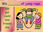 we all jump rope