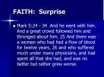 faith surprise
