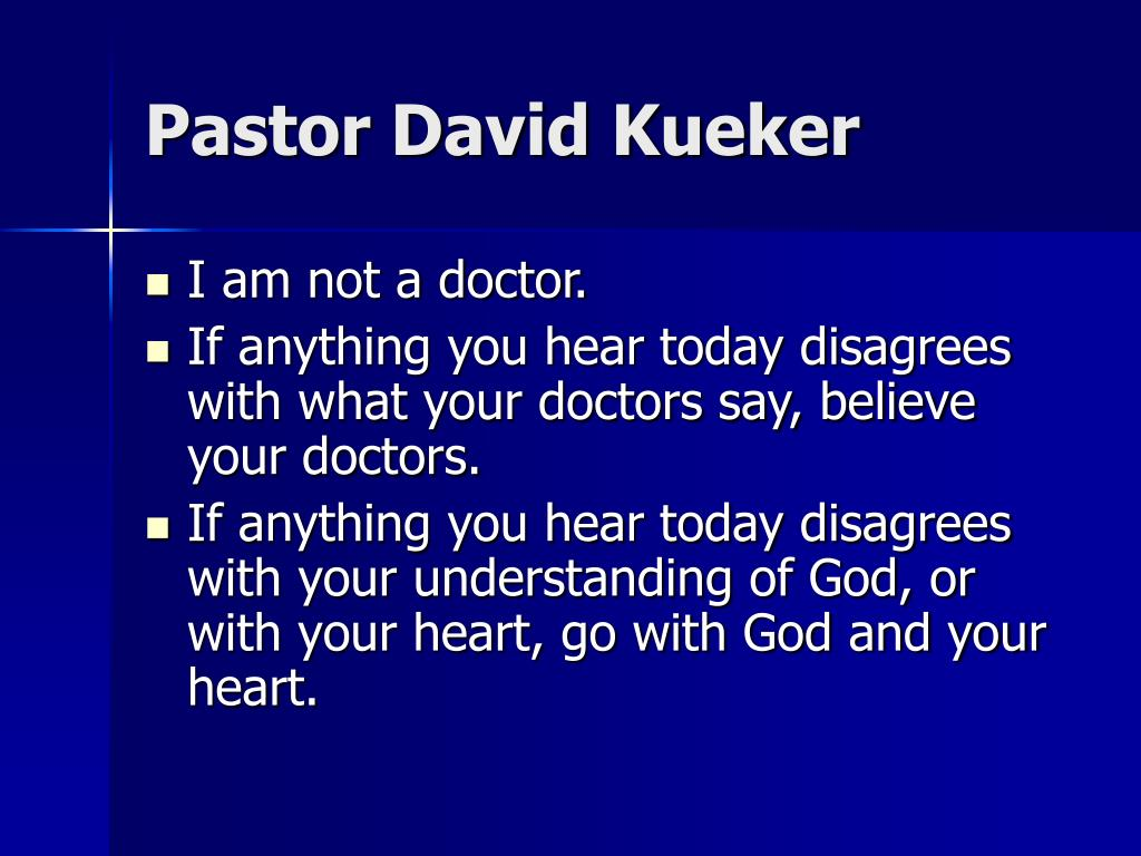 Pastor David Kueker