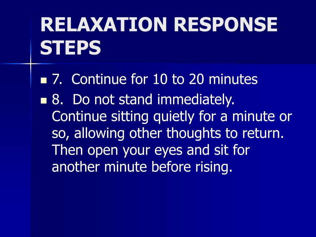 RELAXATION RESPONSE STEPS