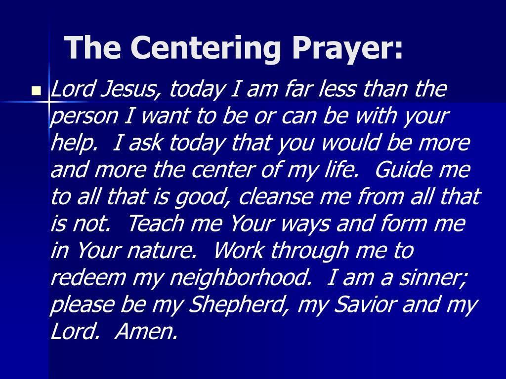 The Centering Prayer: