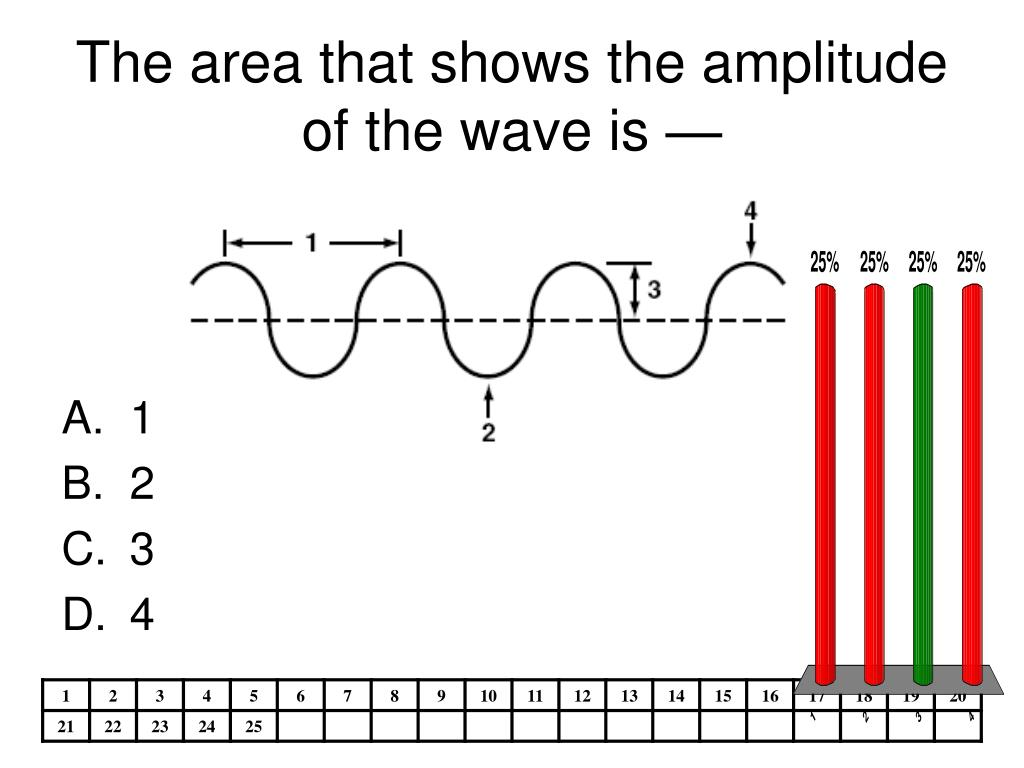 The area that shows the amplitude of the wave is —