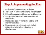 step 3 implementing the plan33