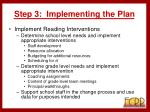 step 3 implementing the plan34
