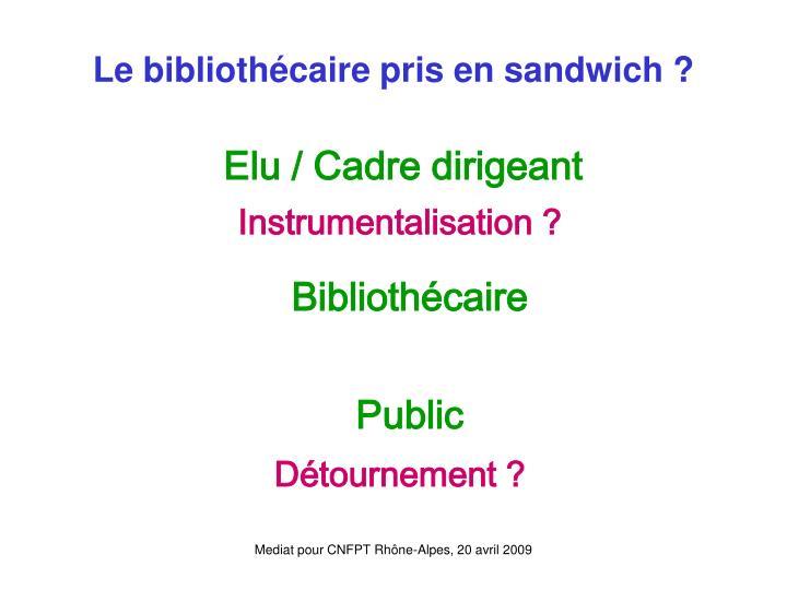Le bibliothécaire pris en sandwich ?