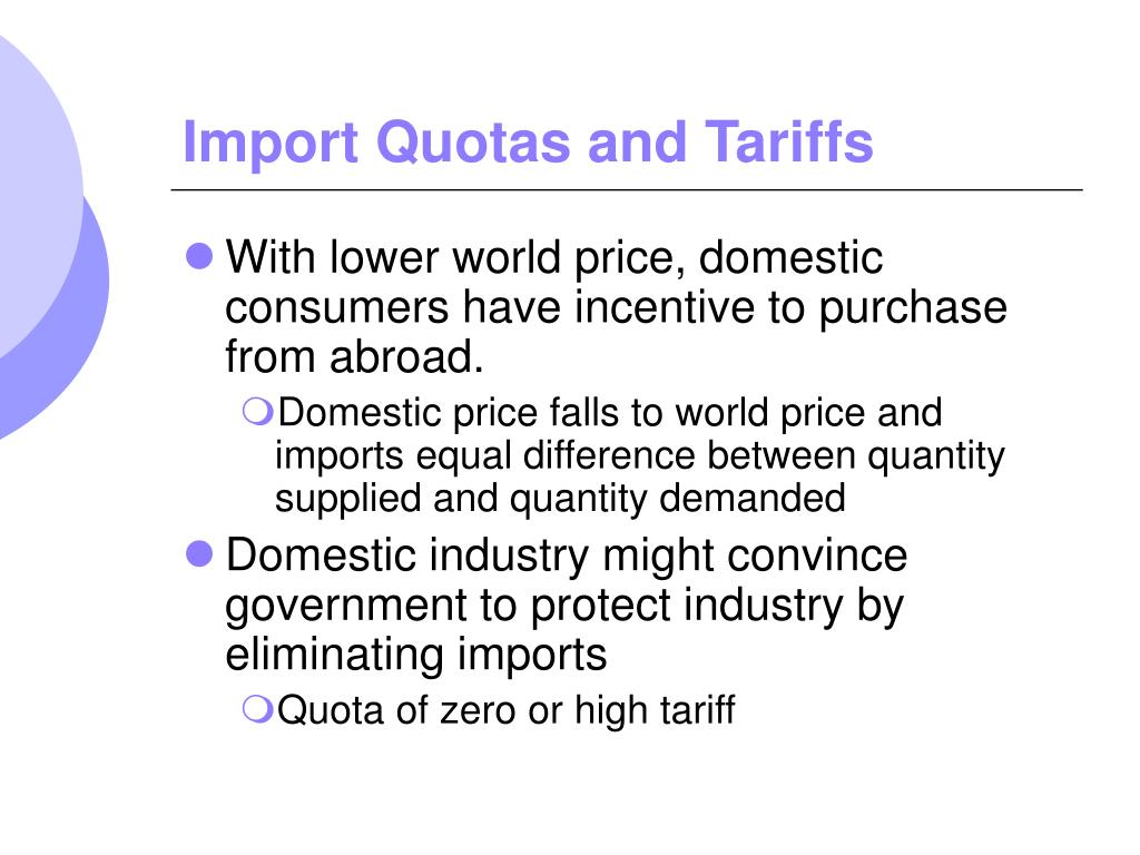 "tariffs and quotas of product The effect of quotas on domestic product price and quality  ""on the equivalence of tariffs and quotas  ""a comment on a model of vertical product."
