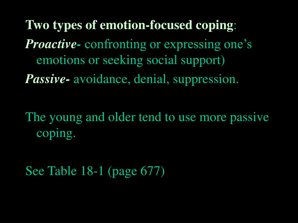 Two types of emotion-focused coping