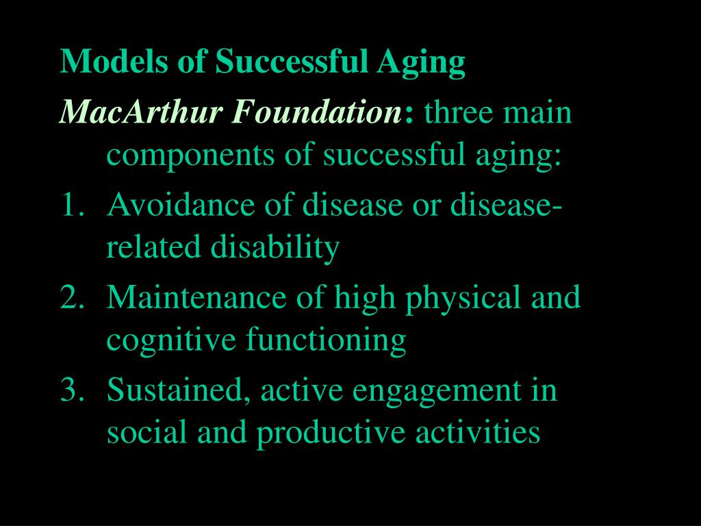 Models of Successful Aging