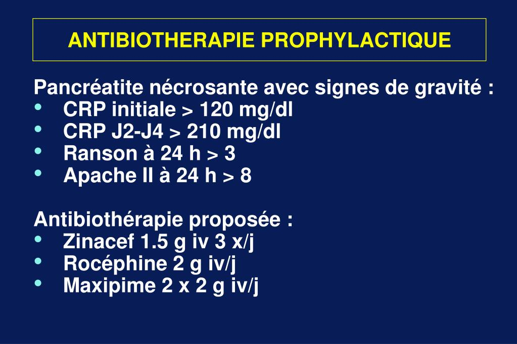 ANTIBIOTHERAPIE PROPHYLACTIQUE