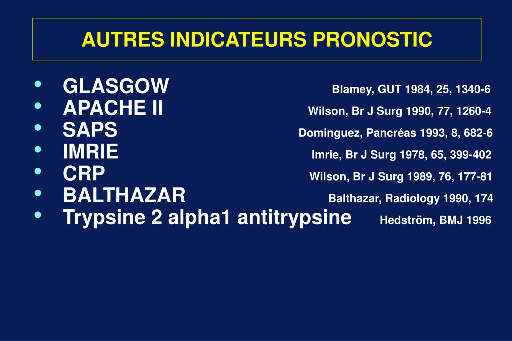 AUTRES INDICATEURS PRONOSTIC