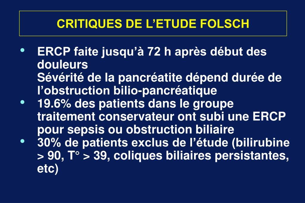 CRITIQUES DE L'ETUDE FOLSCH