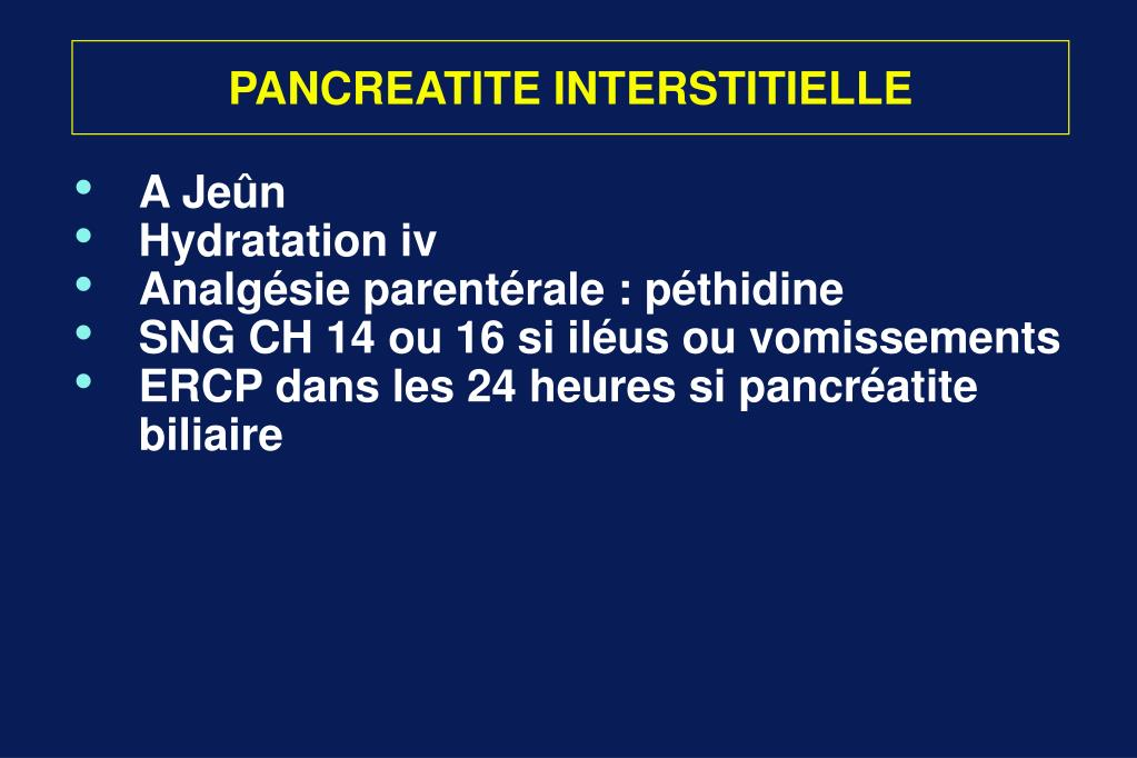 PANCREATITE INTERSTITIELLE