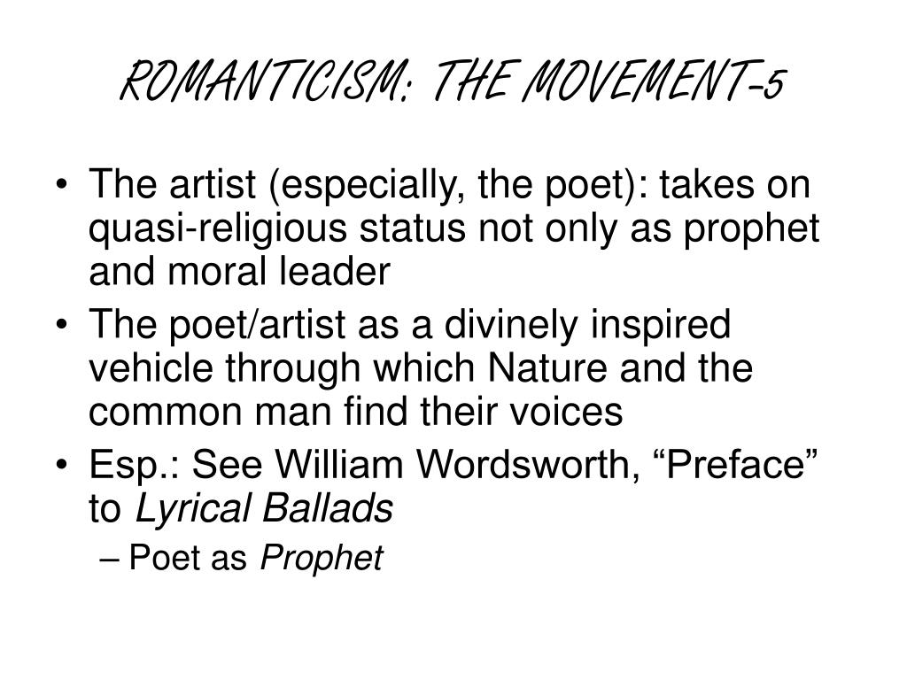 ROMANTICISM: THE MOVEMENT-5