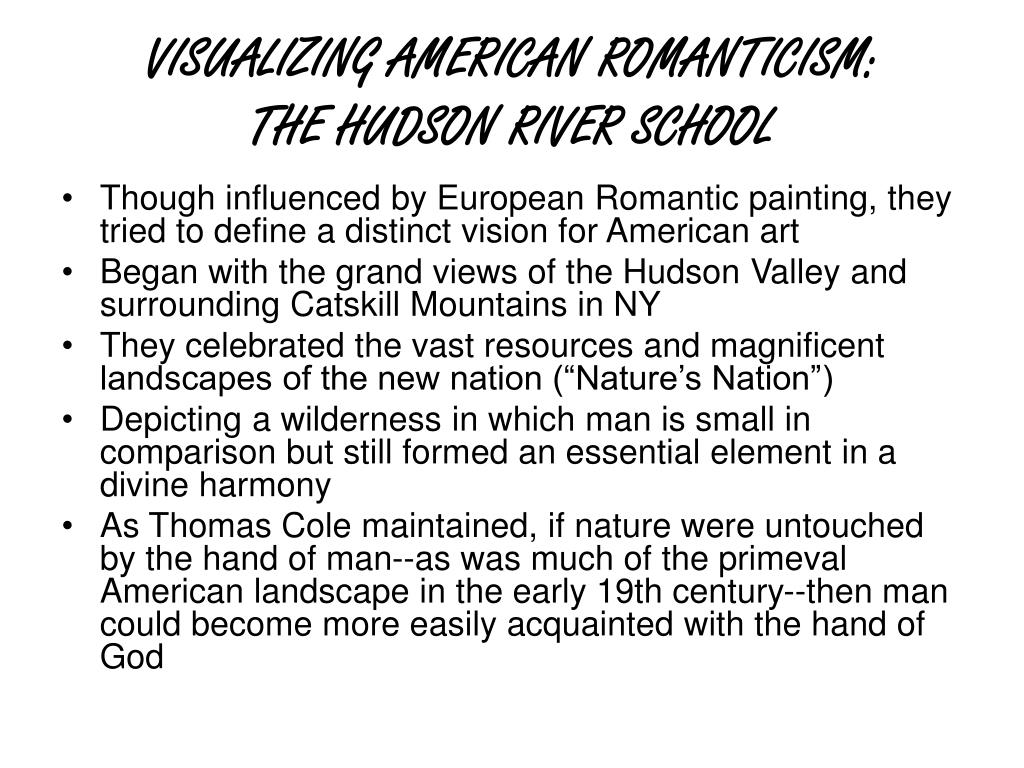 VISUALIZING AMERICAN ROMANTICISM: