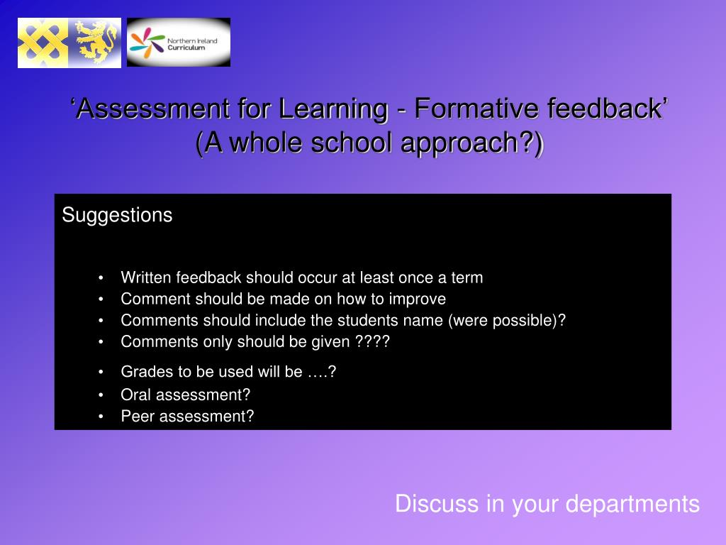 'Assessment for Learning - Formative feedback'