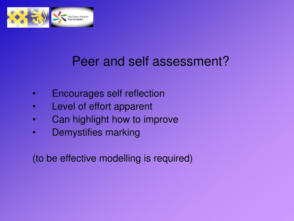 Peer and self assessment?
