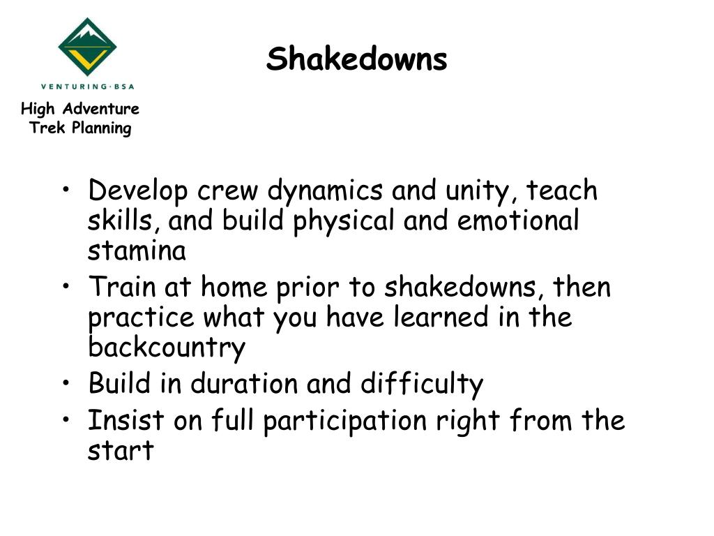 Shakedowns