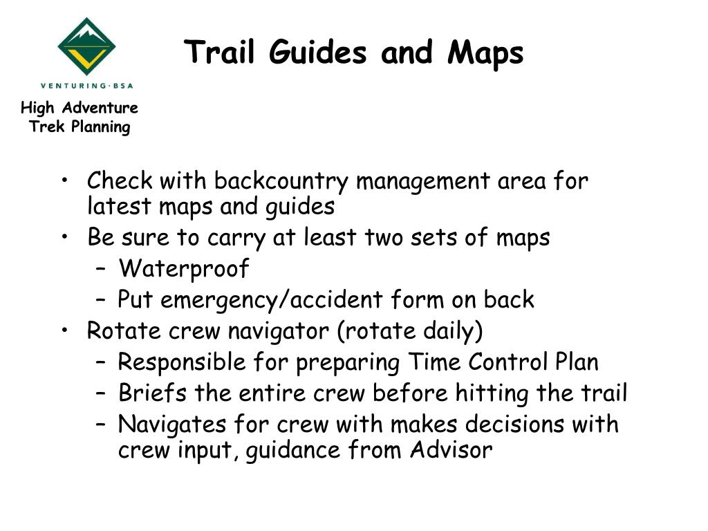 Trail Guides and Maps