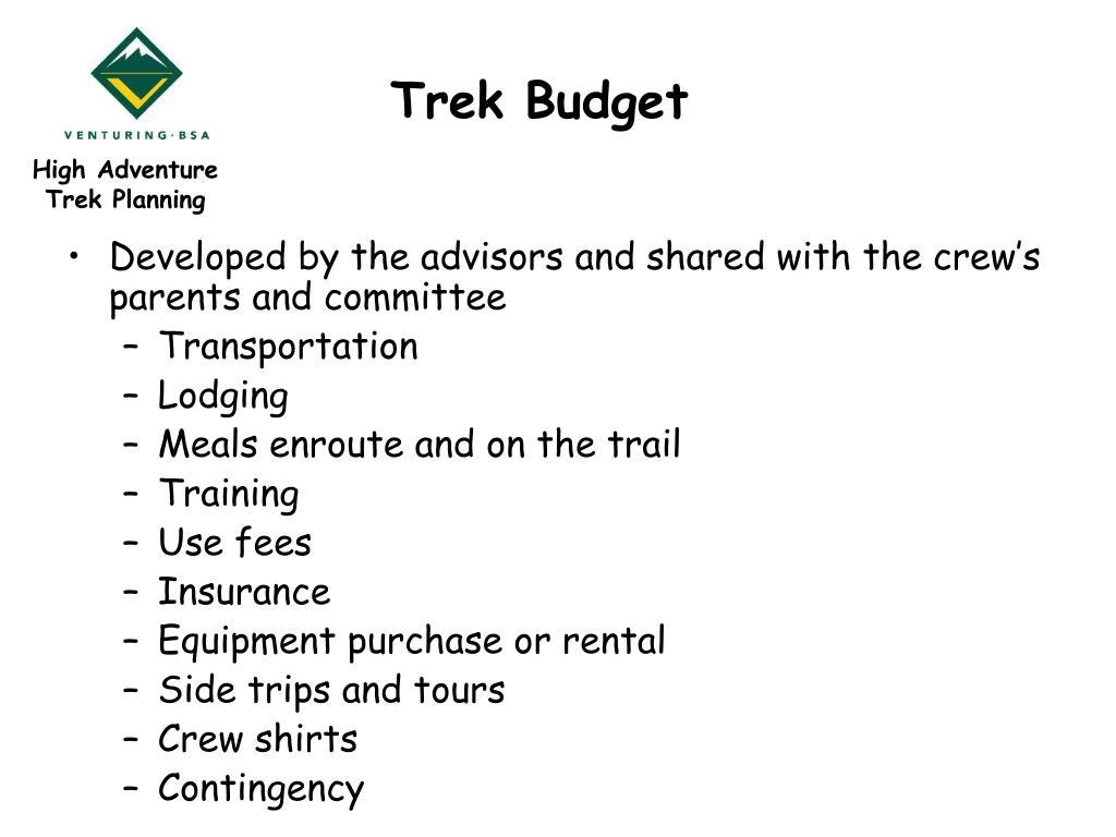 Trek Budget