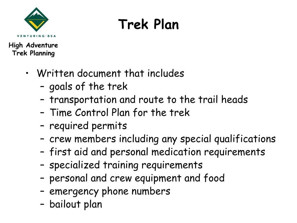 Trek Plan