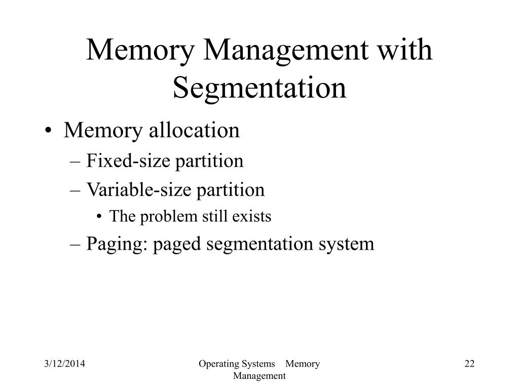 Memory Management with Segmentation