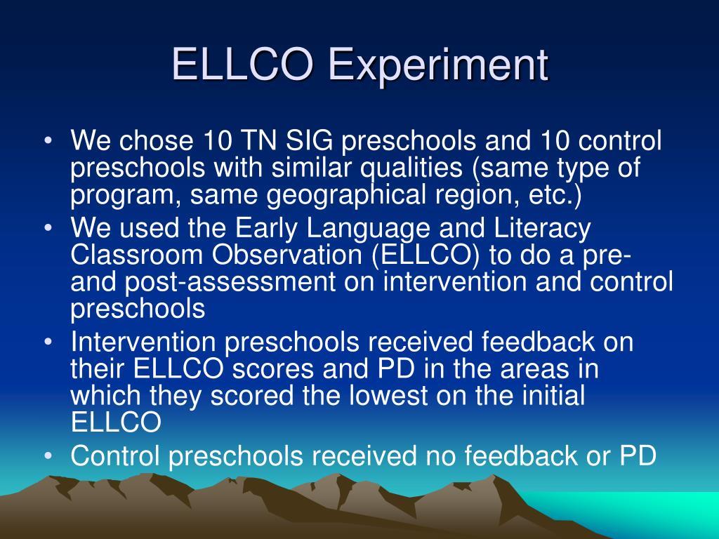 ELLCO Experiment