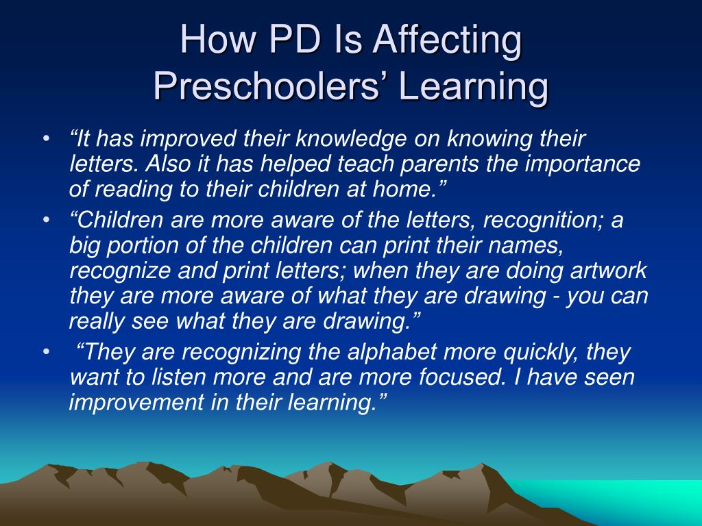 How PD Is Affecting