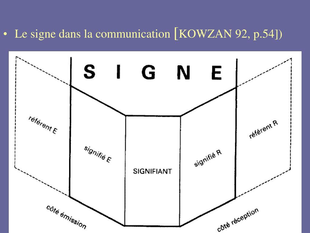 Le signe dans la communication