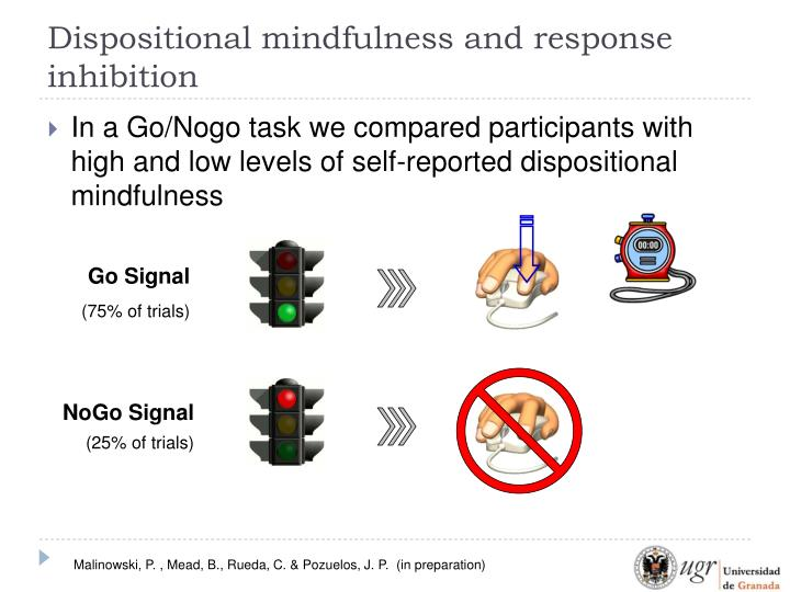 Dispositional mindfulness and response inhibition