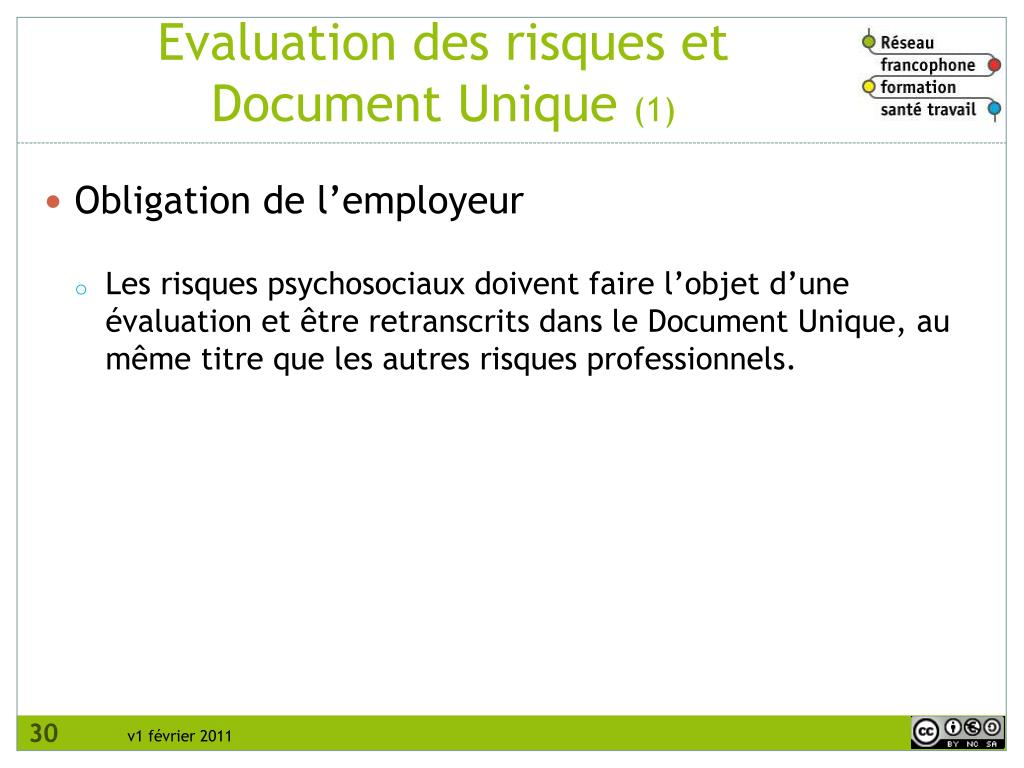 Evaluation des risques et Document Unique