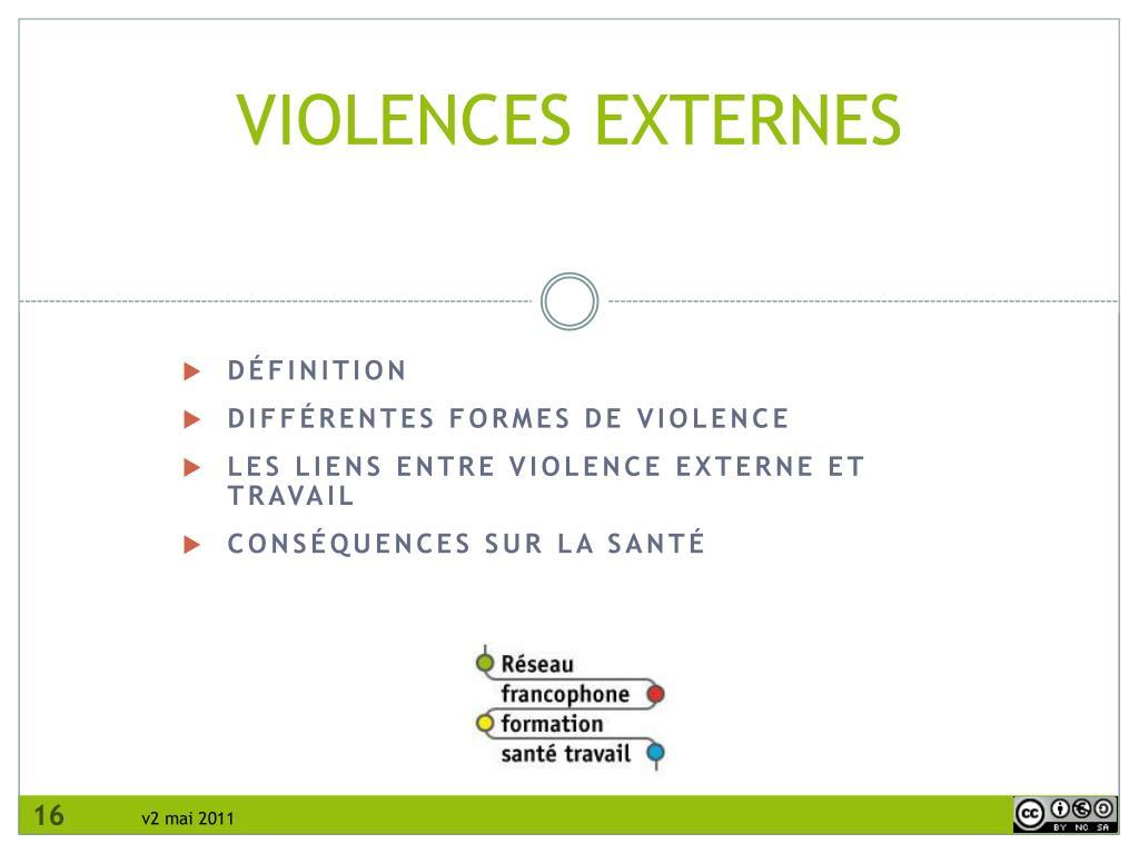 VIOLENCES EXTERNES