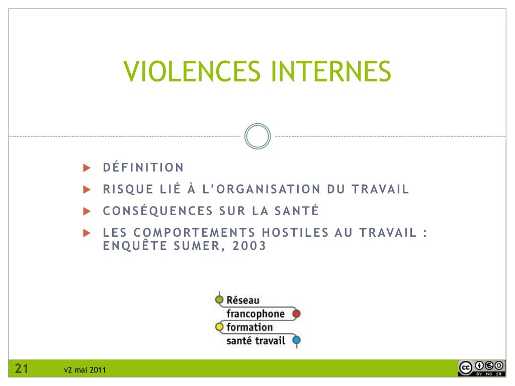 VIOLENCES INTERNES