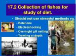 17 2 collection of fishes for study of diet