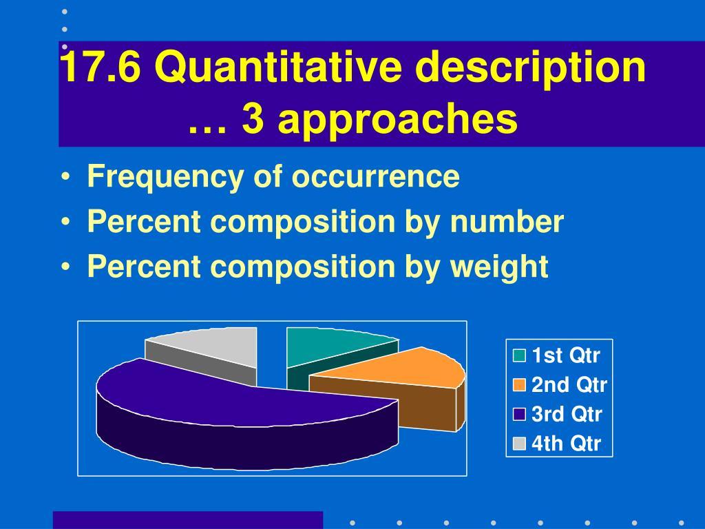 17.6 Quantitative description