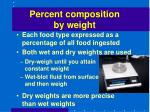 percent composition by weight