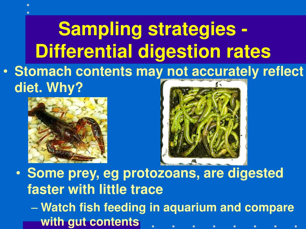 Sampling strategies - Differential digestion rates