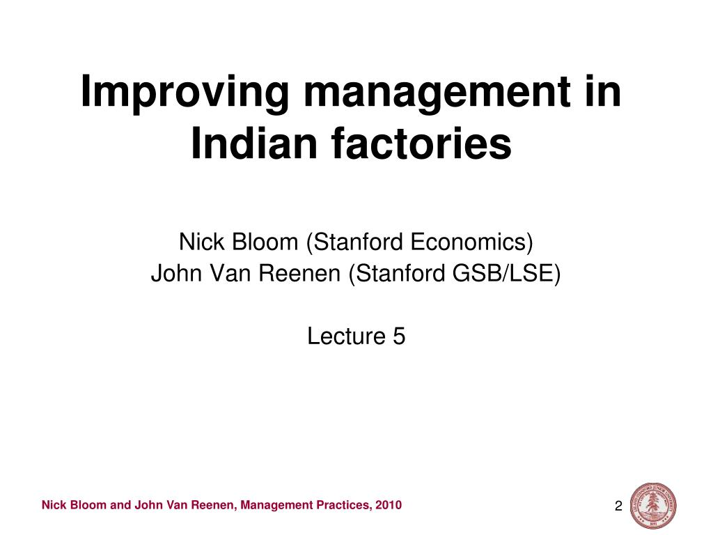Improving management in Indian factories