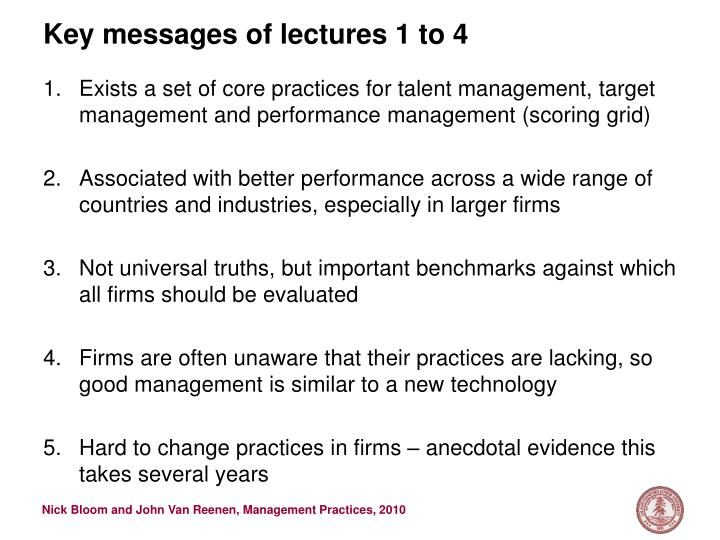 Key messages of lectures 1 to 4 l.jpg