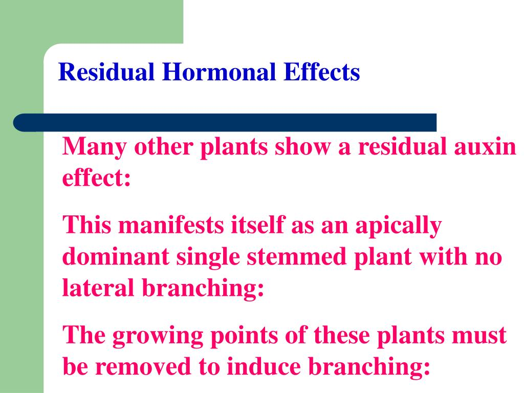 Residual Hormonal Effects