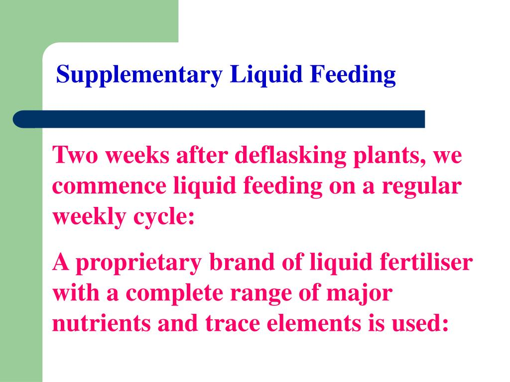 Supplementary Liquid Feeding