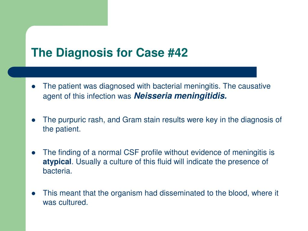 The Diagnosis for Case #42