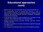 educational approaches cont